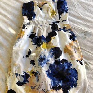 J Crew Factory floral strapless dress